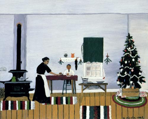 Pippin's painting, Christmas Morning Breakfast. You can see this 1945 work at the Cincinnati Art Museum. Don't worry, I checked!